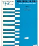 Solo Pieces Of Today Contemporary Piano Vol. B ... - $6.95