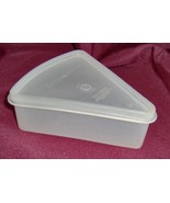 Tupperware Wedge Shaped Triangular Pie Container With Lid Vintage - $6.95