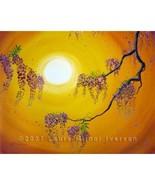 Wisteria in Golden Glow 16x20 Zen Asian Surreal... - $299.00