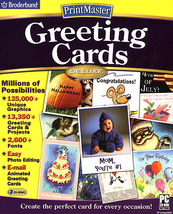 Software PC PrintMaster Greeting Cards Deluxe 2... - $20.00