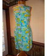Georgiou Studios size 8 Blue Watercolor Silk Sl... - $29.99