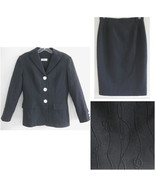 Gray skirt suit Textured M France 42 Claire Cot... - $59.99