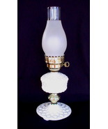 Vintage Quilted Milk Glass Hurricane Lamp 18 in... - $24.99