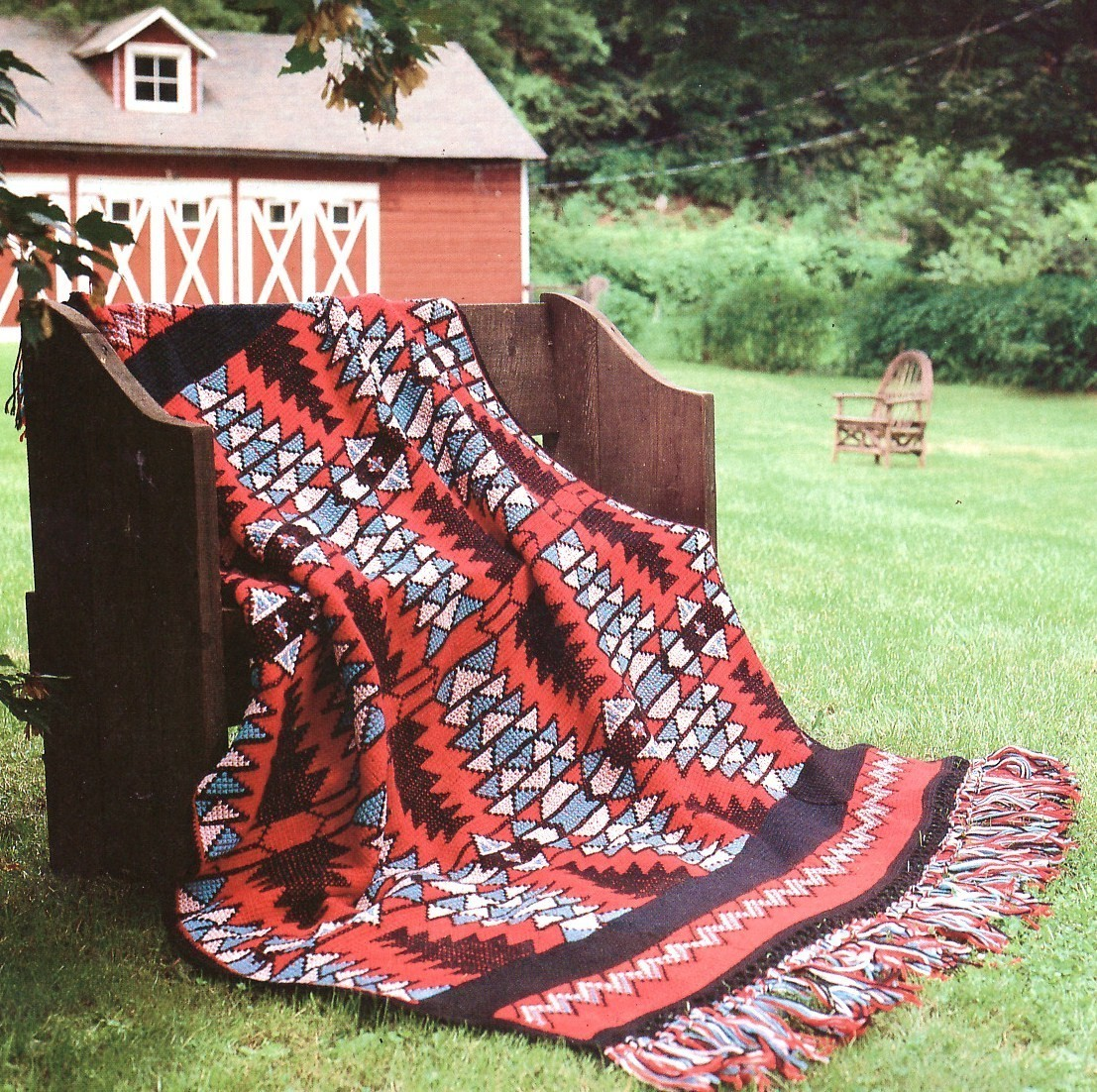 Crochet Patterns Native American : Native American Vibrations Afghan Crochet Pattern Indian Blanket Throw ...