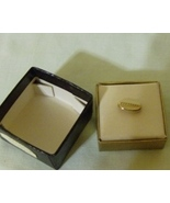 Vintage Swank Tie Tack Oblong Shaped Gold Colored - $3.99