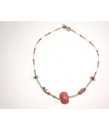 Beautiful Handcrafted Lampwork Coral Necklace  ... - $23.00