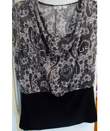 Cato Woman's Light Sweater in Black and White - $14.99