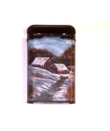 Hand Painted Winter Homestead in Oils Vintage ... - $34.00