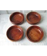 Vintage Wood 4 Individual Salad Bowl Baribocraf... - $39.20