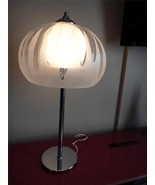 Vintage  Chrome/Lucite Mushroom Table Lamp 70's... - $118.01