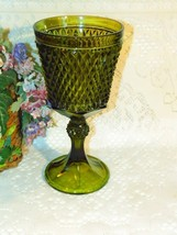 Vintage INDIANA Glass DIAMOND POINT Footed Chal... - $4.69