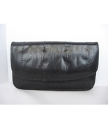 Black Snakeskin Wallet Snake Skin Leather Womens - $9.95