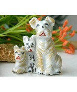 Vintage Trio Scottish Terrier Dogs Puppy Figuri... - $14.95