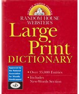 Webster's Large Print Dictionary  - $14.09