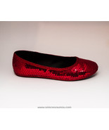 Sequin | Red Ballet Flats Slippers Shoes by Pri... - $39.99