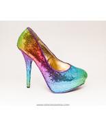 Sequin | Rainbow 6 Inch Stiletto High Heels Dre... - $99.99