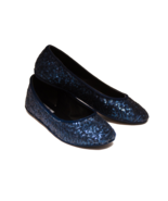 Sequin Navy Blue Ballet Flats Slippers Custom S... - $49.99