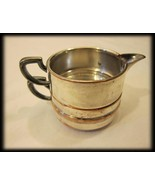Silverplate Silver Plate Retro Vintage Stacked ... - $16.00