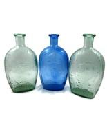 3 Presidential Bottles Flasks Presidents Frankl... - $20.00