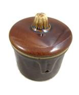 Brownware Brown Ceramic Stoneware Bean Pot w Li... - $10.00