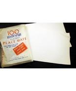 53 Homespun Place Mats Paper Heavy Weight Embos... - $20.00