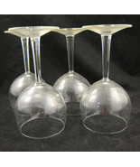 4 Pc Set Plain Clear Glass Red Wine Glasses Vin... - $30.00