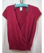 Junior's Large Pink Layered Overlaping Top Shir... - $14.00