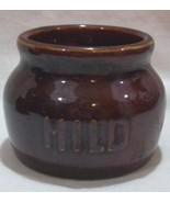 REGO Pottery Dark Brown Mild Mustard Salsa Serv... - $20.00