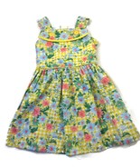Miele Girl's Dress 4T Toddler Yellow Plaid Flor... - $20.00