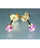 0.49ct Round Pink Sapphire Stud Earrings 14kt - $148.88