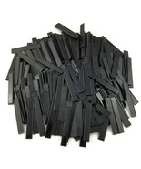 387 Black Rectangular Plastic Tiles 4.25x.75