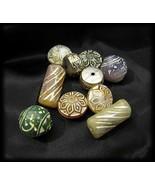 Retro Vintage 10 Pc Colorful Plastic Craft Bead... - $10.00
