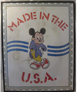 Made in the USA Mickey Mouse Print Poster Frame... - $20.00