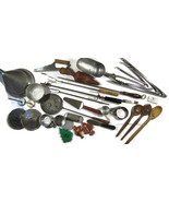 33 Lot Vintage Kitchen Utensils Tongs Spoons Si... - $50.00