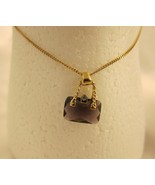 Modern Fashion Jewelry Necklace Dark Purple Pur... - $20.00