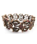 Bracelet Copper Red Rhinestones Cabochons NEW C... - $20.00