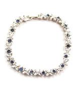 Butterfly Bracelet Blue Rhinestones Silver Tone... - $20.00