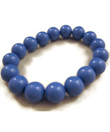 Bracelet Beads Medium Blue NEW Retro Inspired C... - $20.00