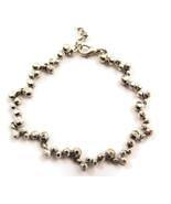 Bracelet Link Silver Tone Studs Unique Classy N... - $20.00