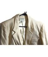 Eddie Bauer Cream Blazer Jacket Coat Women's Me... - $30.00