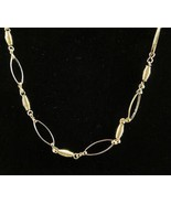 Modern Fashion Jewelry Necklace Gold Tone Loops... - $20.00
