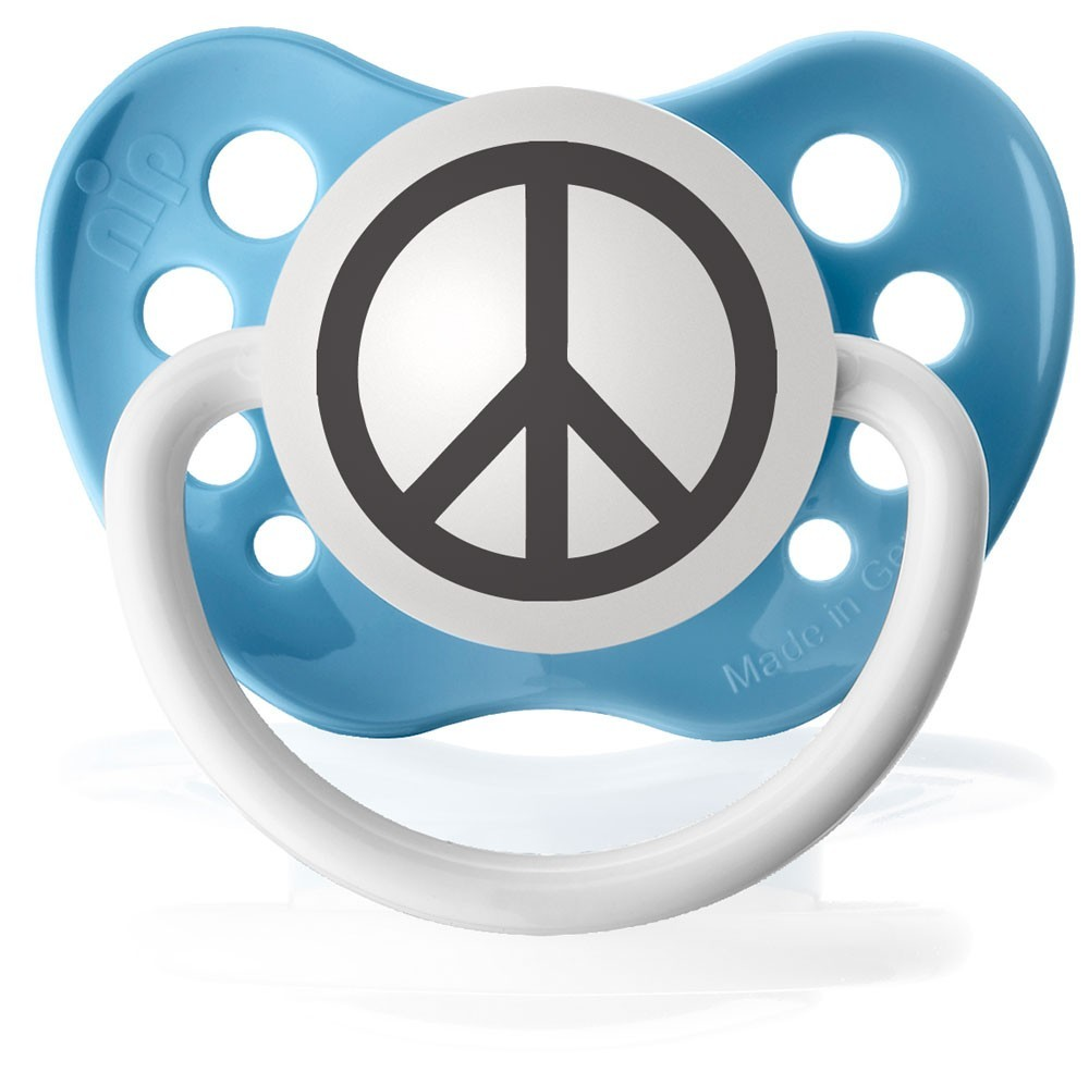 Light blue peace sign