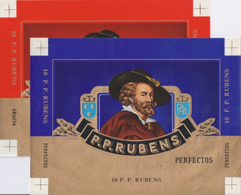 2 Cigar Box Labels P.P. Rubens Embossed Red Gol... - $5.50
