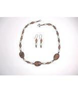 Handcrafted Lampwork Bead Horn Necklace Set Bro... - $30.00