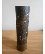 Antique WW1 Trench Art Shell Casing  Inscribed ... - $303.53
