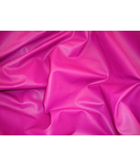 Fuschia Faux vinyl upholstery fabric 55