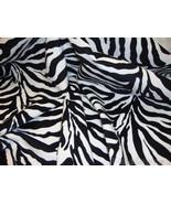 Zebra Black and White Plush Upholstery Velvet F... - $13.99