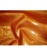 Bright Orange Glitter Faux Vinyl upholstery fab... - $15.95
