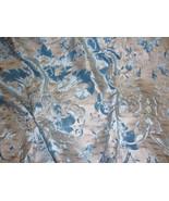 Aquarius blue Damask burnout  velvet silver bac... - $14.99
