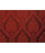 Castleford 101 Rouge Damask Jacquard drapery fa... - $10.95